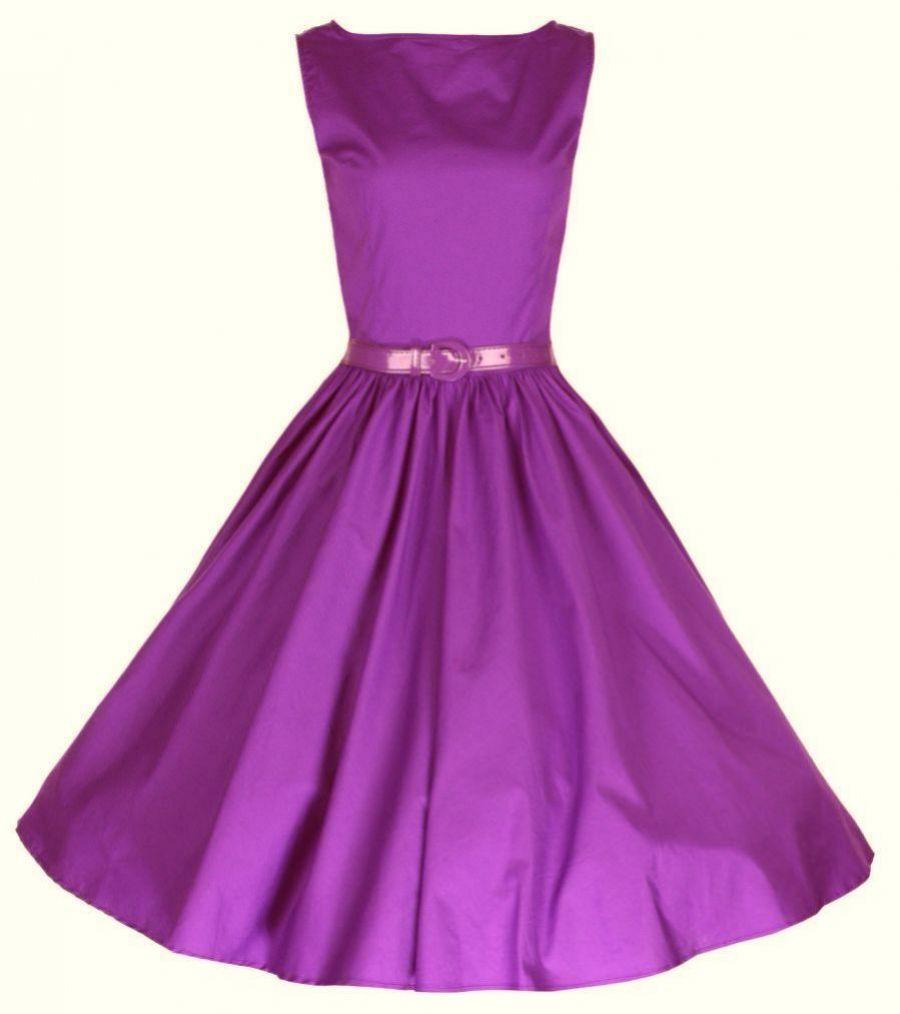 b61159582d9 retro šaty rockabilly 50´s 60´s vintage fialové